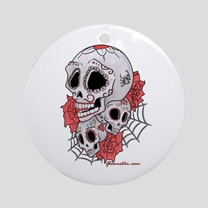 Sugar Skulls and Roses Ornament (Round)