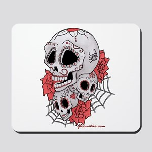 Sugar Skulls and Roses Mousepad