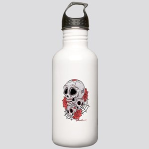 Sugar Skulls and Roses Stainless Water Bottle 1.0L