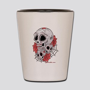 Sugar Skulls and Roses Shot Glass