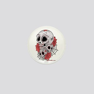Sugar Skulls and Roses Mini Button