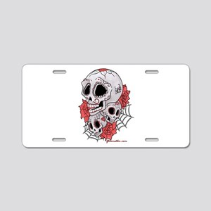 Sugar Skulls and Roses Aluminum License Plate