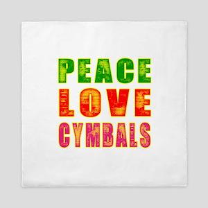 Peace Love Cymbals Queen Duvet