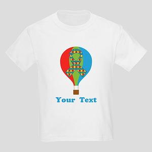 Personalized Autism Balloon Kids Light T-Shirt
