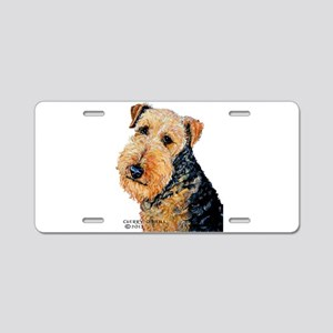 Airedale Terrier Portrait Aluminum License Plate