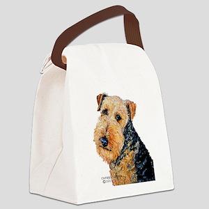 Airedale Terrier Portrait Canvas Lunch Bag