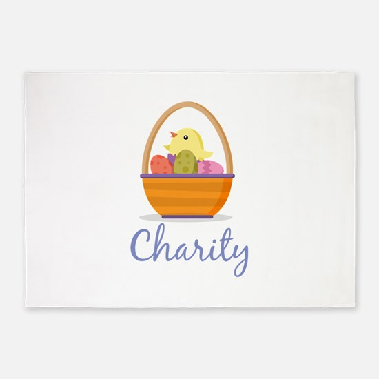Easter Basket Charity 5'x7'Area Rug