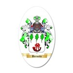 Bernette 35x21 Oval Wall Decal