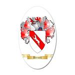 Bernett 35x21 Oval Wall Decal