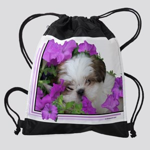 shihtzupuppy2 Drawstring Bag