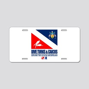 Dive Turks and Caicos Aluminum License Plate