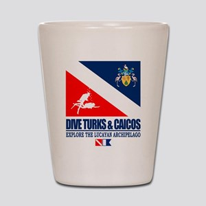 Dive Turks and Caicos Shot Glass