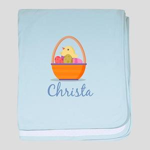 Easter Basket Christa baby blanket