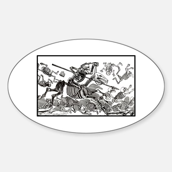 Don Quixote Calavera Oval Decal