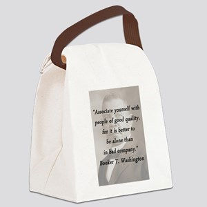 B_Washington - Associate Yourself Canvas Lunch Bag