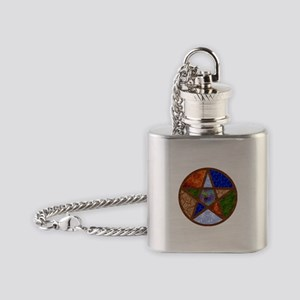 Elemental Pentacle Flask Necklace