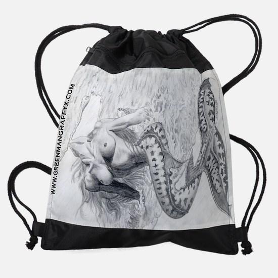 mermaid200rot.png Drawstring Bag
