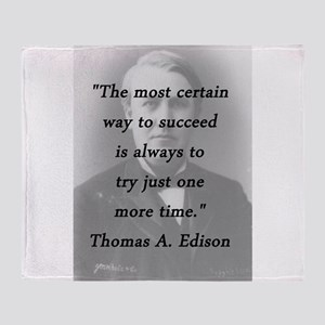 Edison - Way to Succeed Throw Blanket