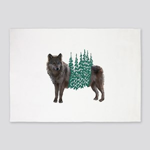 WOLF 5'x7'Area Rug