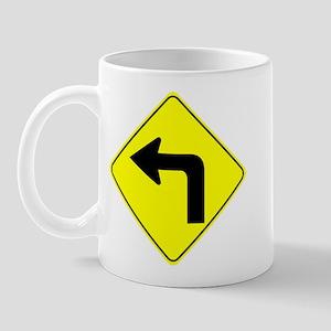 Left Turn Ahead Mug