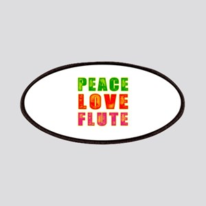 Peace Love Flute Patches