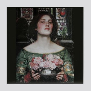 Gather Ye Rosebuds by Waterhouse Tile Coaster