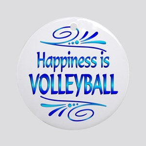 Happiness is Volleyball Ornament (Round)