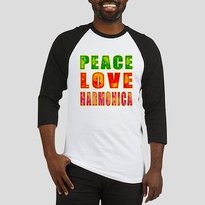 Peace Love Harmonica Baseball Jersey