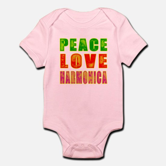 Peace Love Harmonica Infant Bodysuit