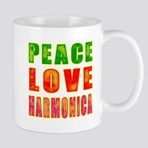 Peace Love Harmonica Mug