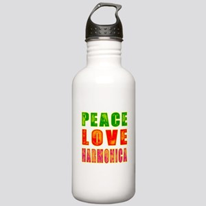 Peace Love Harmonica Stainless Water Bottle 1.0L