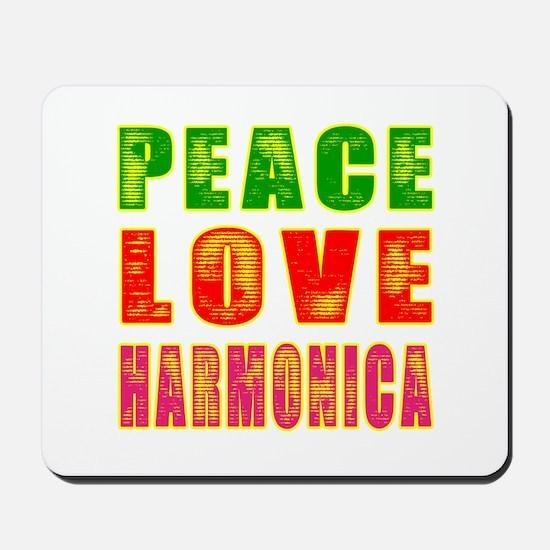Peace Love Harmonica Mousepad