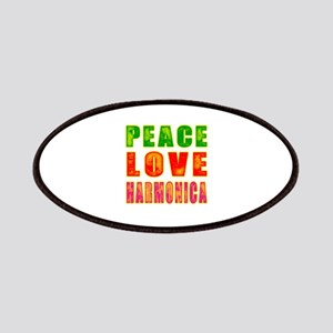 Peace Love Harmonica Patches