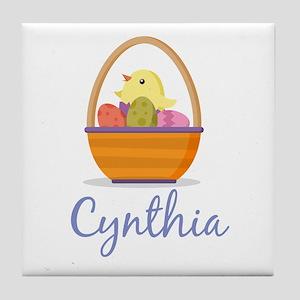 Easter Basket Cynthia Tile Coaster