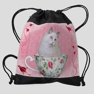 Tea Cup Drawstring Bag
