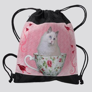 Tea Cup.jpg Drawstring Bag