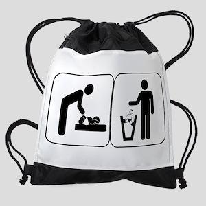 diaperchangingwhite Drawstring Bag