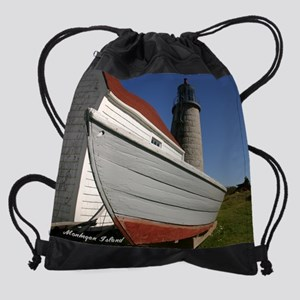 Monhegan Island Light for Calendar  Drawstring Bag