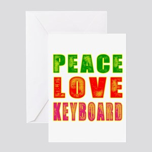 Peace Love Keyboard Greeting Card
