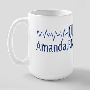 Amanda,RN - ICU Large Mug