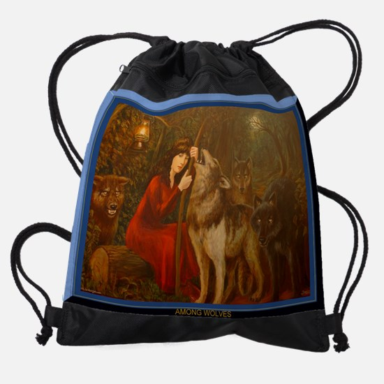 Painted Diary of a Dreamer LorAnge  Drawstring Bag
