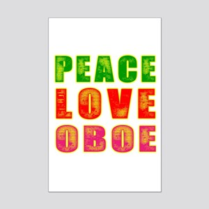 Peace Love Oboe Mini Poster Print