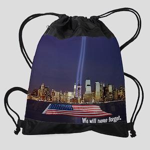 kd_WTC_MEM_reflec_flag_nvrfgt_.j Drawstring Bag