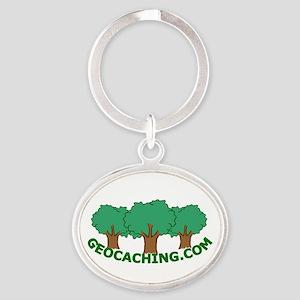 Geocache Oval Keychain