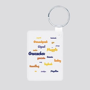 Geocache Aluminum Photo Keychain