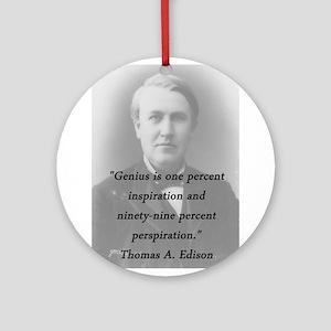Edison - Genius Round Ornament