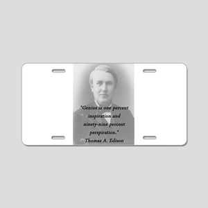 Edison - Genius Aluminum License Plate