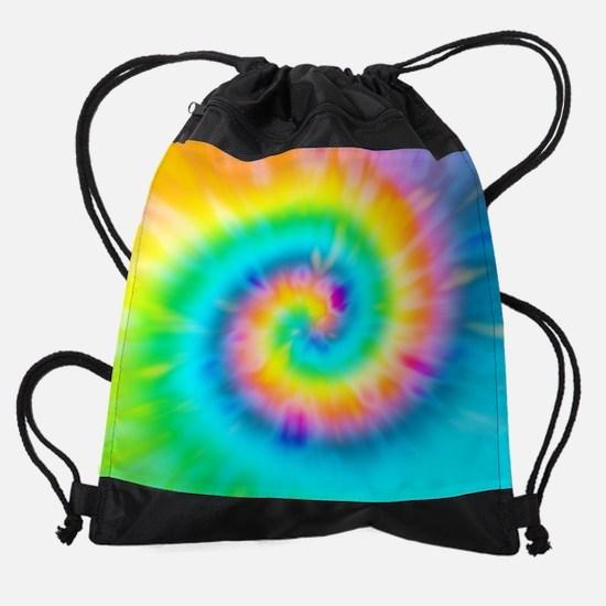 TieDy Twril Ripples Rainbow King Du Drawstring Bag