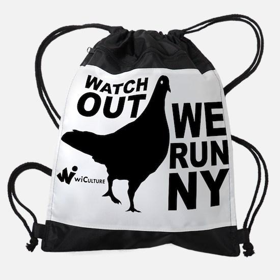 We Run NY Pigeon Drawstring Bag