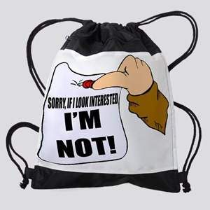 Not funny t-shirt Drawstring Bag